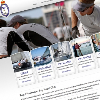 Royal Freshwater Bay Yacht Club website design