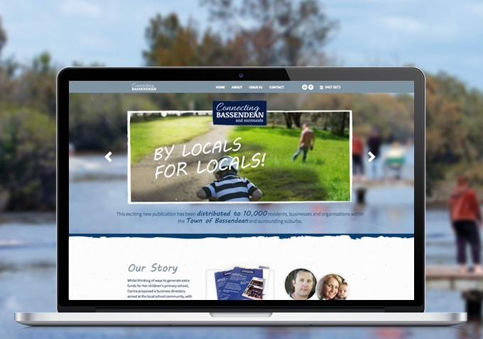 Connecting Bassendean website design and development