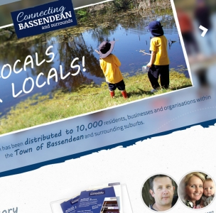 Connecting Bassendean web and graphic design project